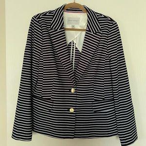 Banana Republic Stripe Knit Blazer, Size 16